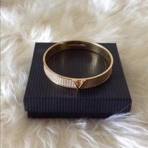 Vince Camuto Signature Gold/Cream Bangle Bracelet
